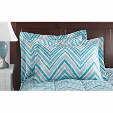 Bedding Sets Mainstays Watercolor Chevron Bed In A Bag Bedding Set Walmart Com