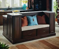 kitchen cabinets and islands java cabinets featuring a kitchen island with seating homecrest