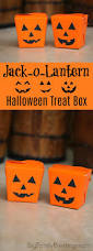 diy jack o lantern halloween treat box