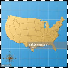 map of usa with compass usa map with compass vector getty images