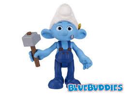 smurfs movie toys handy clumsy farmer smurf gallery