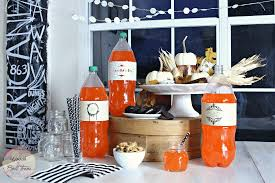 Halloween Garland Craft by Simple Halloween Party U0026 Soda Bottle Wrapper Printables U2013 Woods Of