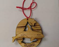 orca whale ornament etsy