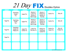 21 day fix workout calendar print a workout calendar