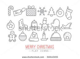 free illustrated christmas vector icons download free vector