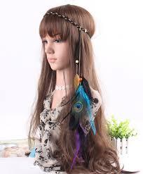 hippie hair accessories aaaaa fashion retro folk custom festival feather charm hippie