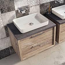 750mm Vanity Units For Bathroom by Tila Wall Mounted Bathroom Vanity Unit Light Sawn Oak Resin Basin