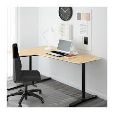 ikea bureau angle bekant bureau d angle gch plaqué bouleau noir ikea