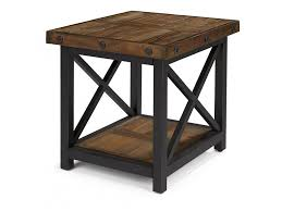 signature design kayden med brown finish rect end table t5483