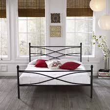 soho queen size metal bed frame in black hbedsoho qn