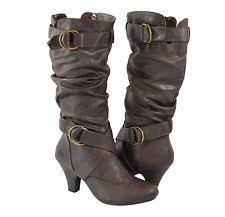 womens boots kitten heel high heel faux leather slouch kitten mid calf dress boots