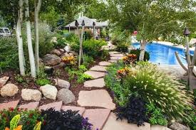 Tropical Landscaping Ideas by Small Backyard Tropical Landscaping Lap Pool Brings The Charm Of