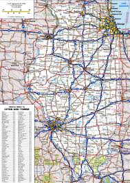 Illinois Interstate Map by Road Map Of Illinois My Blog