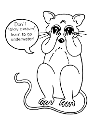 skunk coloring pages adventure swim animal coloring pages