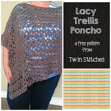 tw in stitches lacy trellis poncho version 1 asymetrical look