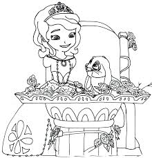 sofia the first coloring pages clover blue ribbon bunny sofia 8670