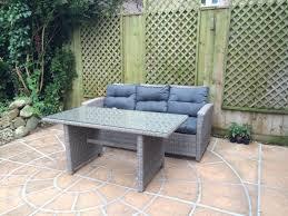 Homebase Patio Rattan Effect Garden Sofa And Table In Cambridge Cambridgeshire