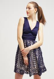 little mistress navy embellished waist bandeau maxi dress little