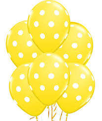 polka dot balloons 12 yellow dot polka dot balloons made in usa