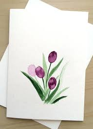 greeting cards wholesale greeting cards wholesale uk painted card tulips blank by