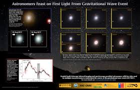 astronomers feast on first light from gravitational wave event
