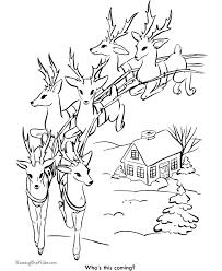 reindeer printables coloring
