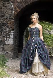 Wedding Dresses Edinburgh Bella Special Weave Silks Tartan Wedding Dress Scottish Kilts