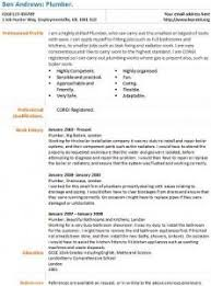 Plumber Resume Sample by Sample Plumber Cover Letter