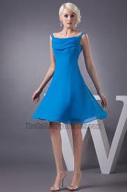 blue graduation dresses blue knee length a line chiffon cocktail graduation dresses