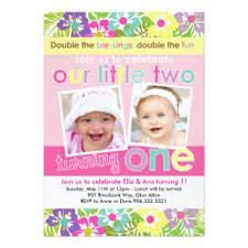 twins first birthday invitations u0026 announcements zazzle com au