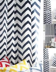 Chevron Navy Curtains Cotton Printing Navy Blue And White Striped Chevron Curtains