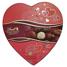 heart box of chocolates lindt gift box classic assorted chocolates 6 2 ounce