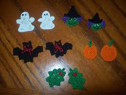 halloween pins crocheted halloween appliques embellishments earrings magnets