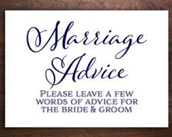 words of wisdom for the happy wedding advice sign etsy