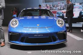 porsche 911 gt3 front porsche 911 gt3 touring package front at iaa 2017 indian autos blog