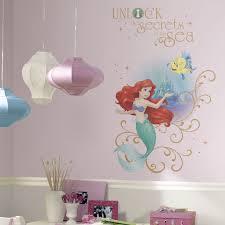 little mermaid wall decals roselawnlutheran disney princess little mermaid wall decals room decor stickers ariel