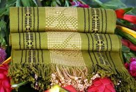 lime green table runner runner back strap woven lime green tan black