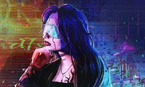 cyberpunk female portrait sketch by idaisan on deviantart