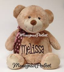 engraved teddy bears xlarge personalized jumbo 20 stuffed teddy monogramperfect