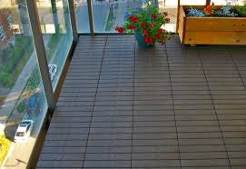 balcony flooring plastic rubber wpc deck tiles outdoor floors