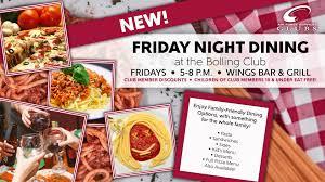 food clubs bolling club dining