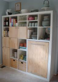 ikea kitchen storage ideas expedit kitchen storage and counter ikea hackers ikea hackers