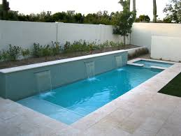 awesome three waterfall for small pool designs apropos to ceramic