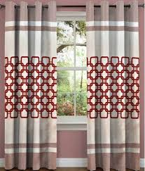 sn home decor single window eyelet curtain abstract red buy sn