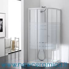 ferbox cabine doccia doccia semicircolare con ante scorrevoli in cristallo tako ferbox
