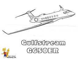 gulfstream g550 air plane coloring page at yescoloring www