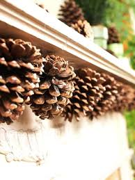 pine cone decoration ideas top decorating pine cones decor gorgeous mantel