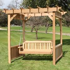 swing pergola personalized deluxe decorative arbor swing