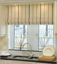 Kitchen Window Blinds And Shades - riviera stripe cordless roman shade pottery barn patterned