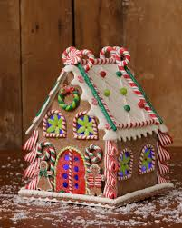 christmas gingerbread house christmas candy gingerbread house 10 75 inches with led light